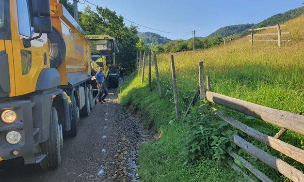 Anunț lucrări asfaltare Valea Ciorii